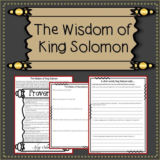 King Solomon Quotes: King Solomon, Solomon And Student On Pinterest