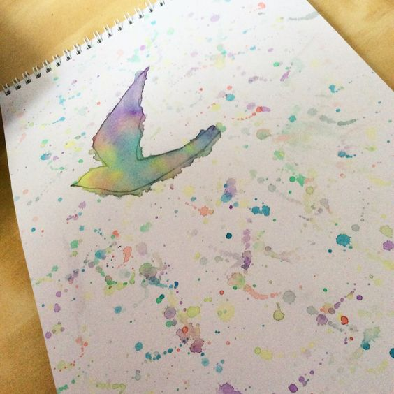 Watercolour bird