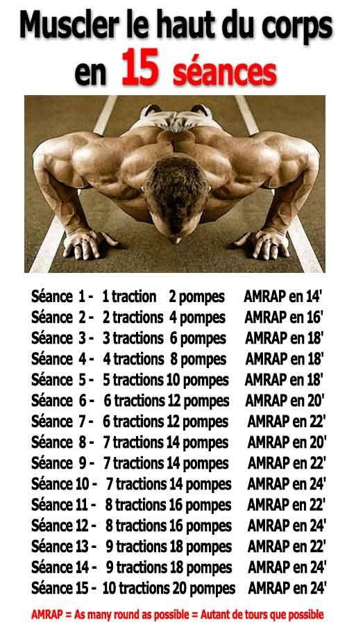 Programme de #musculation au poids de corps en 15 séances pour muscler le haut du corps