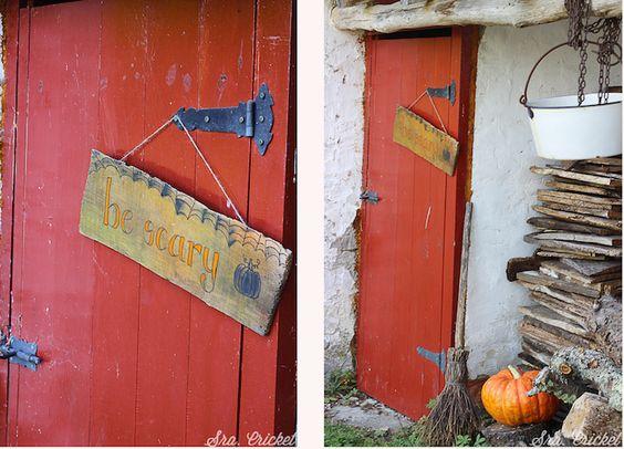 cartel de madera  halloween -by-sracricket.com