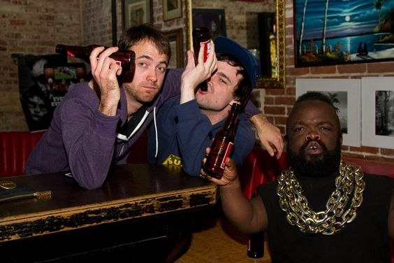 Just a couple of drunk guys with an inebriated Mr T midget #funny #couple #drunk #guys #inebriated #midget #humor #comedy #lol