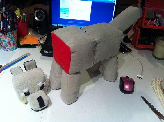 My minecraft dog statue brinleys stuff pinterest minecraft dogs ccuart Gallery