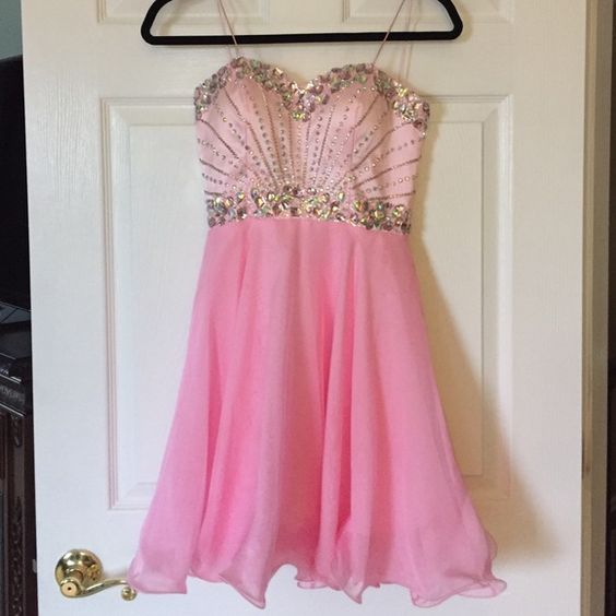 Party or Sweet Sixteen Dress Stunning beaded corseted dress. Fits perfect due to corset. Worn once! Poly Dresses Midi