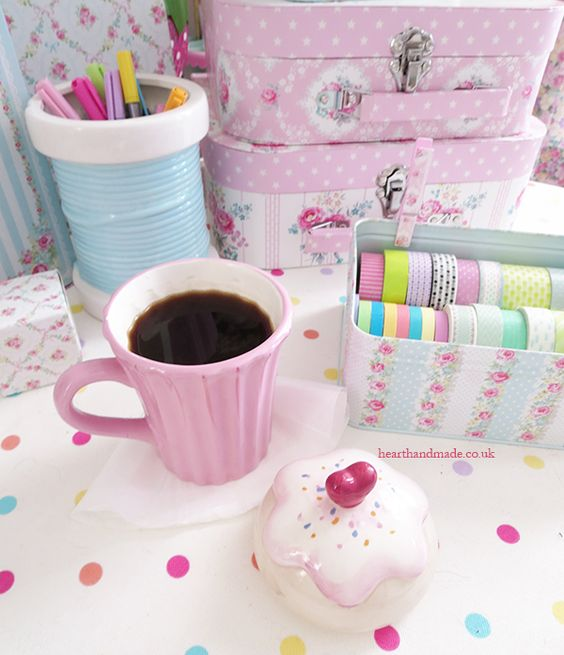 cupcake cup and washi tape tins craft ideas