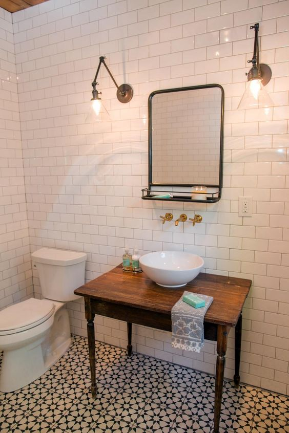 The old tile and sinks on pinterest for Hgtv tile bathroom ideas