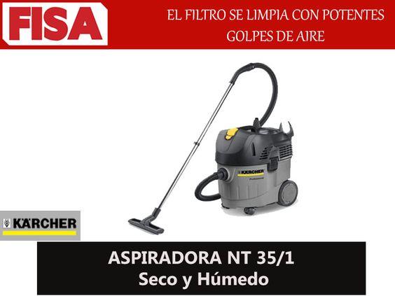 ASPIRADORA NT 35/1 El filtro se limpia con potentes golpes de aire -FERRETERIA INDUSTRIAL -FISA S.A.S Carrera 25 # 17 - 64 Teléfono: 201 05 55 www.fisa.com.co/ Twitter:@FISA_Colombia Facebook: Ferreteria Industrial FISA Colombia