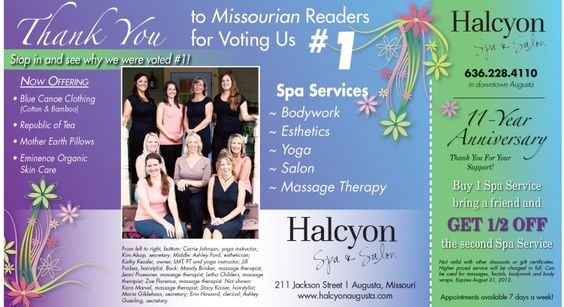One of my locations, Halcyon Spa and Salon