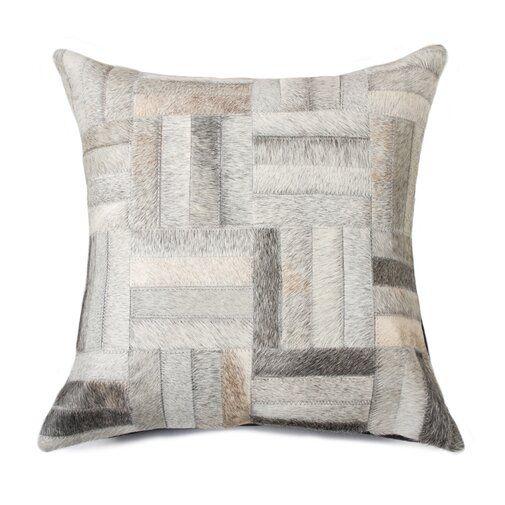 Graham Parquet Throw Pillow Cowhide Pillows Throw Pillows Leather Throw Pillows