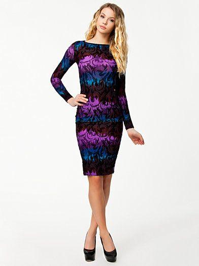 Halftone L/S Dress - Glamorous - Lila - Festklänningar - Kläder - Kvinna - Nelly.com
