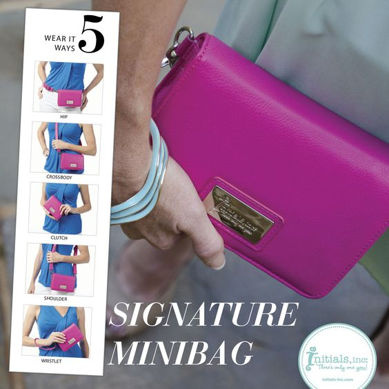 Your Style Game just got 5 times better! The Signature Minibag is all the rage from it's perfect size to 5, yes- 5, ways to wear. To get yours contact your Creative Partner or visit www.initials-inc.com/SHOP. Check out our blog for tips on picking the perfect bag and see the inside of the Mini. http://initials-inc.com/?p=9201