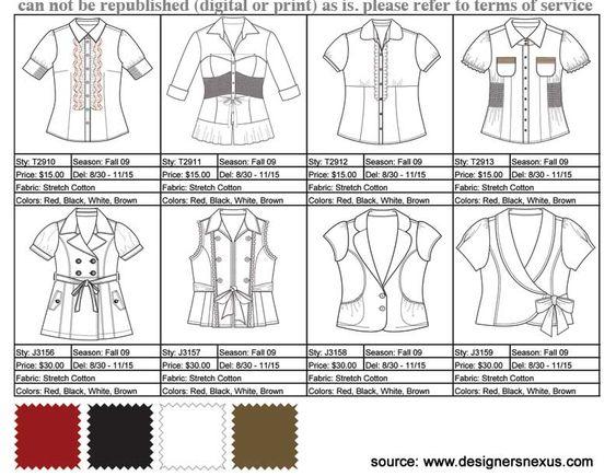 Fashion Line Sheet Example | Tech Packs | Pinterest | Style, Dress ...