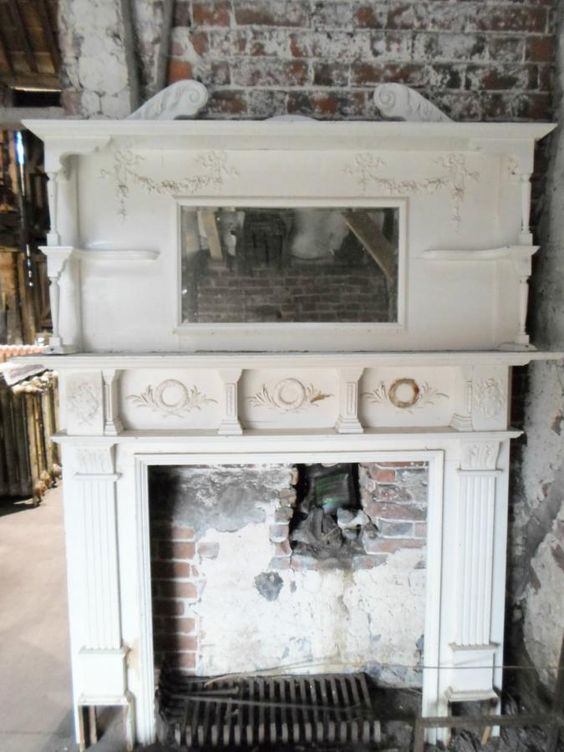 Victorian Fireplace Mantel With Mirror For Sale Early Victorian Fireplace Surround And Over