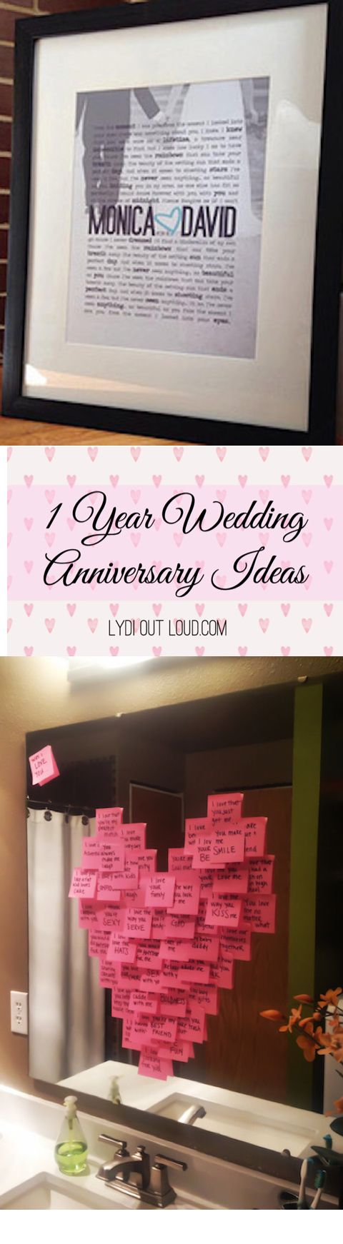 1 Year Wedding Anniversary Ideas For Him : Year Anniversary Gift Ideas First anniversary, Wedding and Lyrics