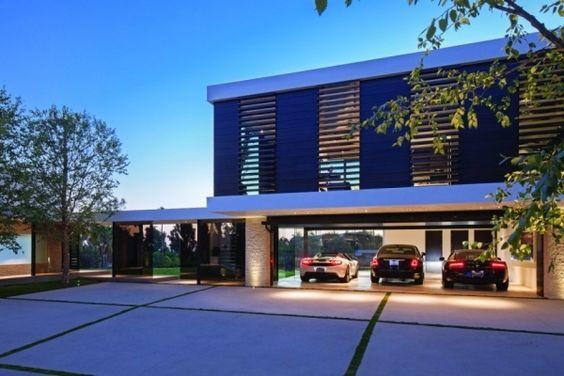 gebäude luxus anwesen kalifornien garage drei autos