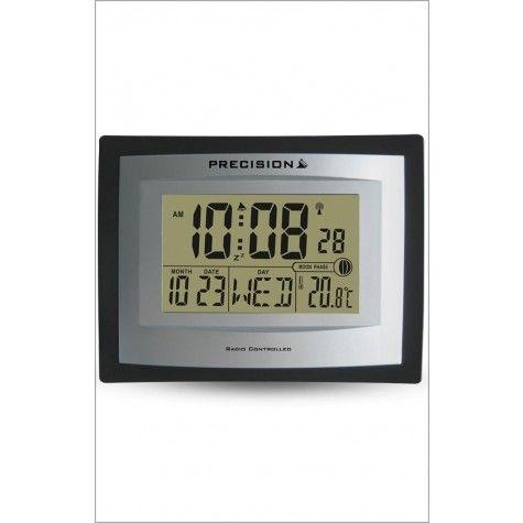 New Precision Radio Controlled Digital Moon Phase Alarm Wall Clock
