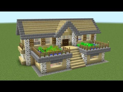 Minecraft How To Build A Birch Survival House Minecraft