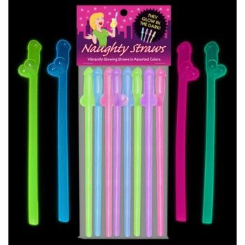 Glowing Naughty Straws Bachelorette Bachelorette Party