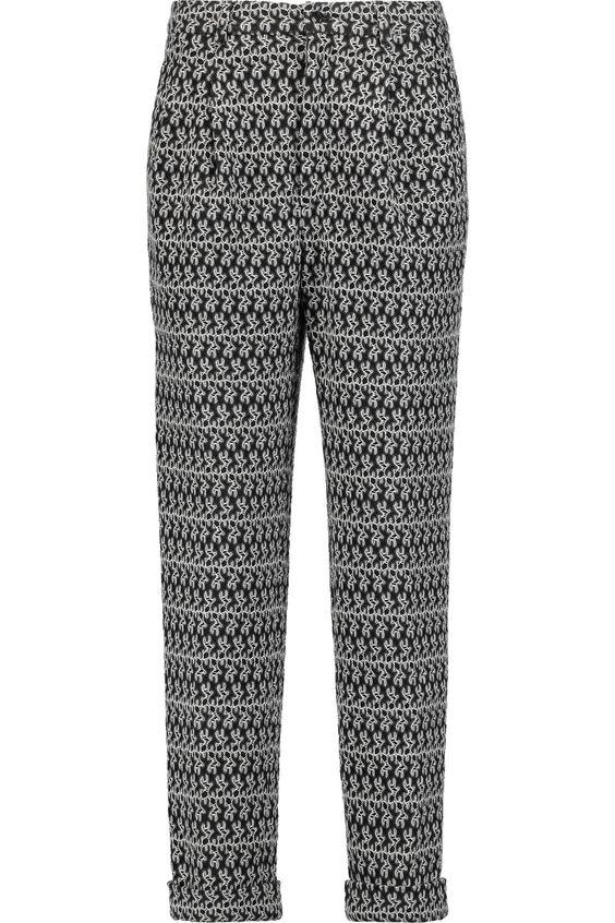 MISSONI Crochet-Knit Wool-Blend Slim-Leg Pants. #missoni #cloth #pants