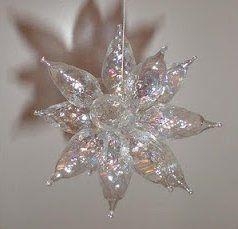 Upcycled bulb stars - using old Christmas lights to make sun catchers.
