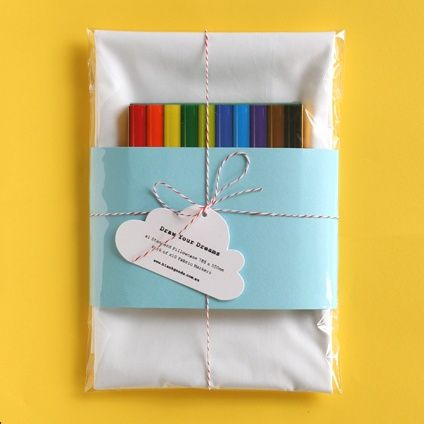 draw your dreams pillowcase...camping party -party favor?