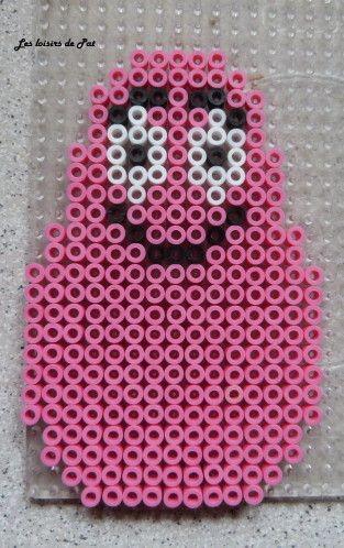 Barbapapa Hama beads by Les Loisirs de Pat