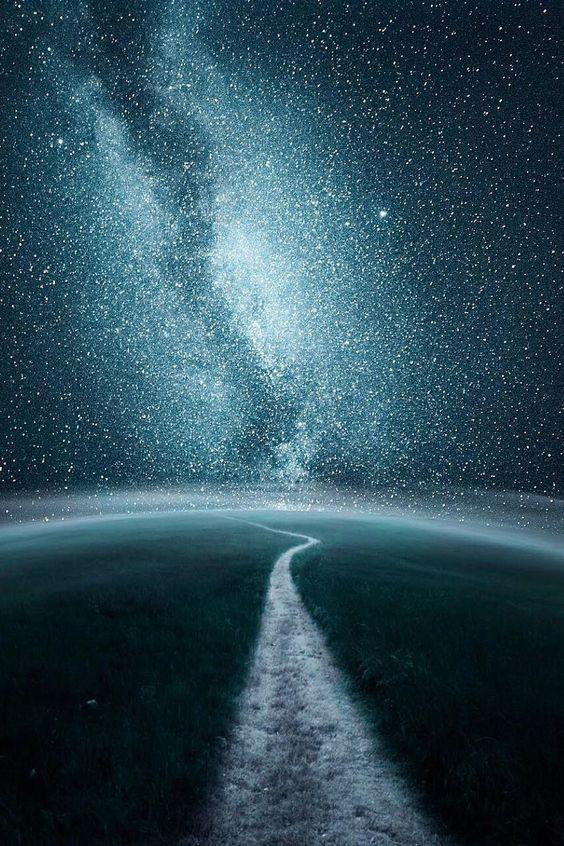 鏡面反射のような天の川