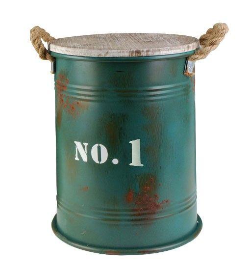 Stolik Kawowy Beczka Roger Rust 40 Cm Compost Bin Ice Bucket Compost