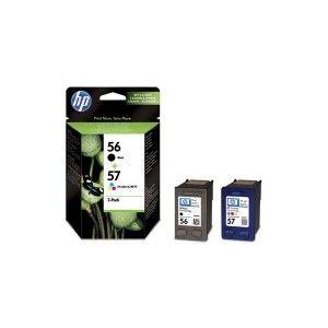 PACK HEWLETT PACK DE 2 CARTUCHOS INYECCION TINTA Nº 56 + Nº 57 NEGRO/TRICOLOR