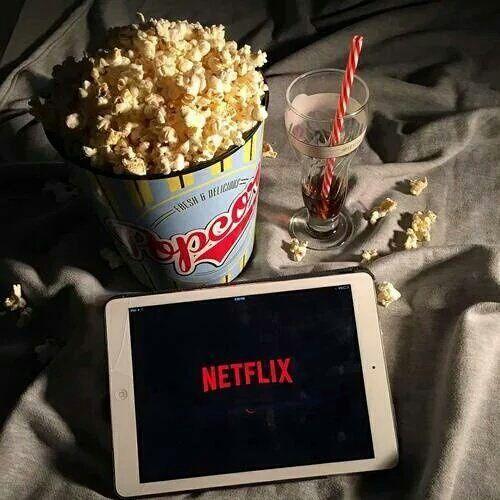 Netflix, pipoca, foto tumblr, foto tumblr em casa, tablet