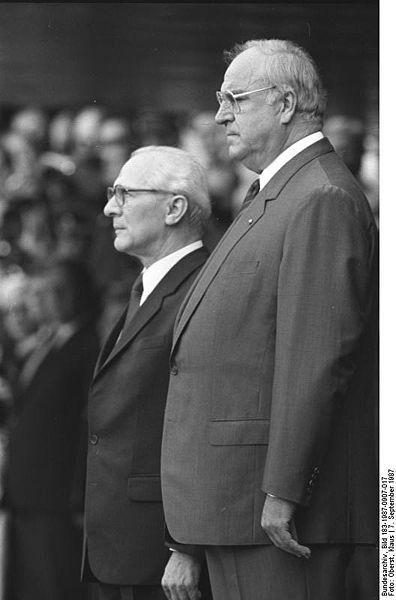 Bonn, Besuch Erich Honecker, mit Helmut Kohl