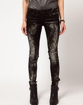 Enlarge Blank NYC Metalic Paint Splattered Skinny Jeans
