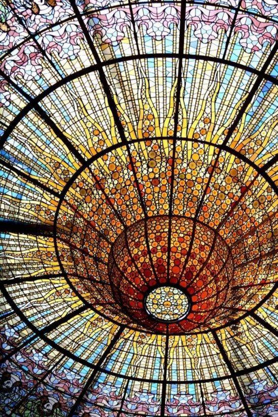 Stained Glass Barcelona Opera House.......