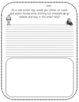 winter writing prompts elementary From winter reading to writing prompts and fun science explorations, these fun   for elementary students, it's a great way for introducing or.