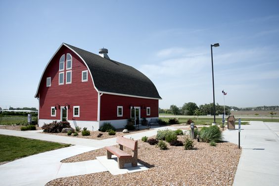 Red Barn visitor center in Broken Bow, NE.