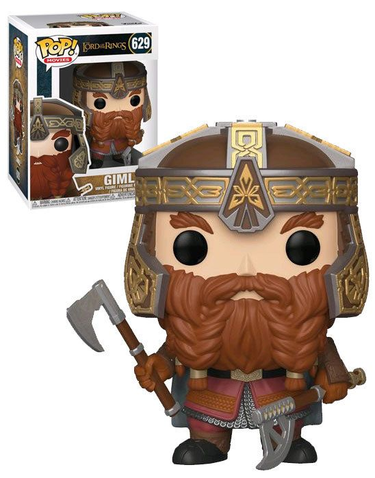 Gimli Collectible Figure Funko Pop Movies Lord of The Rings Multicolor