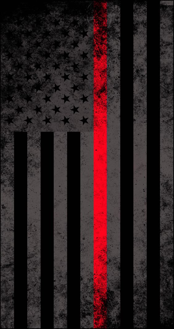 American Subdued Thin Red Line Flag Decal!