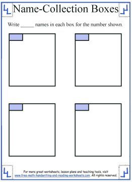 math worksheet : name collection box worksheet template  teaching math  pinterest  : Math Worksheet Template