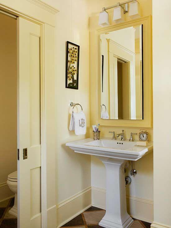 Small bathroom design ideas toilets pedestal and pocket - Bathroom door ideas for small spaces ...