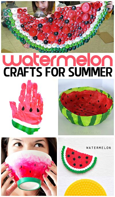 Watermelon Crafts & DIY Projects for Summer