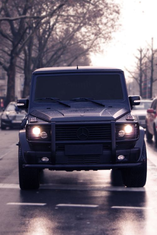 G class mercedes g class and mans best friend on pinterest for Mercedes benz g wagon black matte