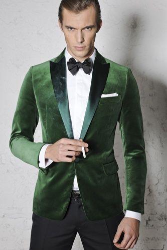 Mens Emerald Green Blazer Fashion Ql