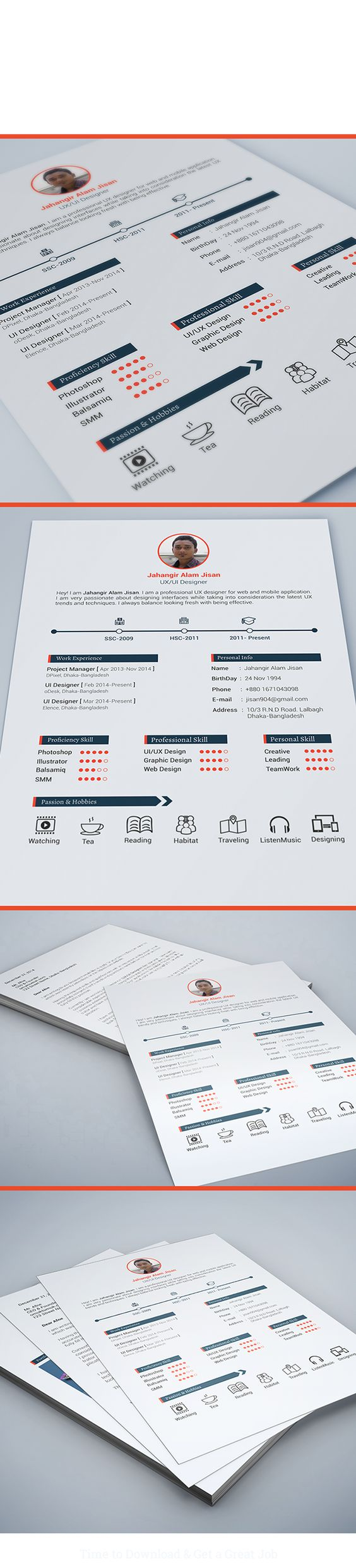 resume template page on behance my design resume template 3 page on behance