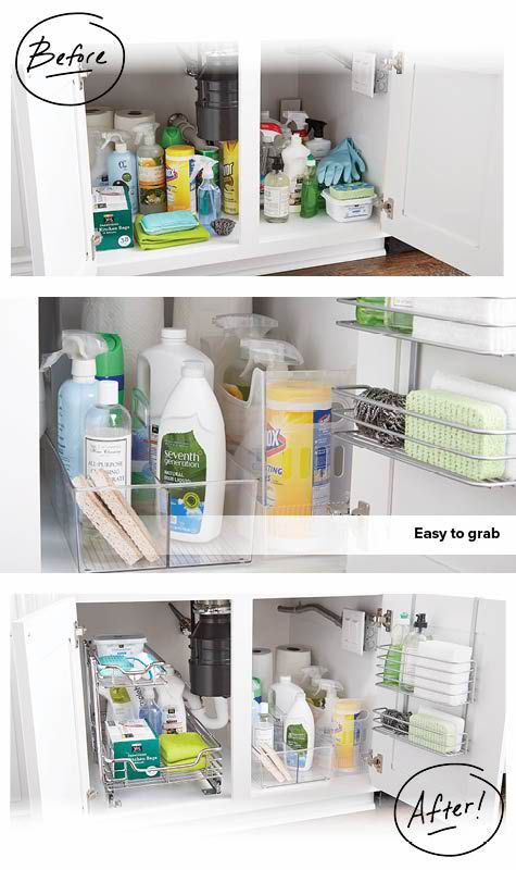 Resist The Urge To Allow The Cabinet Below Your Sink Become A Dumping Ground Utilize Small Bathroom Storage Under Sink Storage Small Bathroom Storage Cabinet