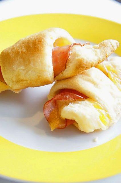simple. ham + cheese + crescent rolls