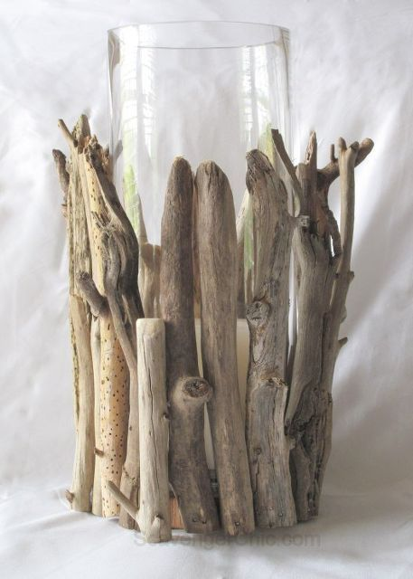 driftwood hurricane lamp diy, diy, home decor, lighting