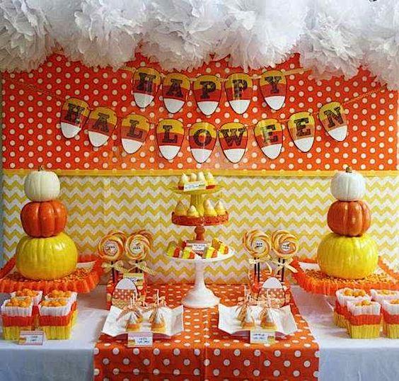 Candy Corn Boy Girl Treat Halloween Party Plannning Ideas