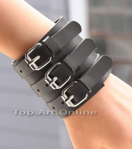 Leather wrap! It's punk/goth, but I've been leaning toward that lately(mostly punk), so no problem!