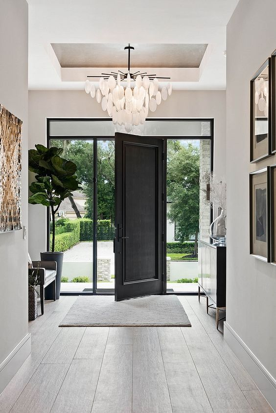 Stylish Entryway Ideas For A Beautiful First Impression Jane At Home In 2020 Modern Entry Home House Design