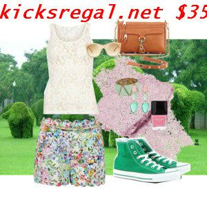 Cute #converse #outfit. Just got these kicks TODAY! #ordereasy org for full off 62% off new green converse hi top