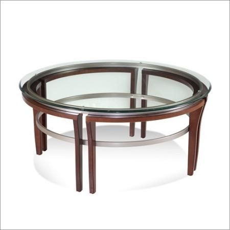 Small Bassett Mirror Company Fusion Round Cocktail Table